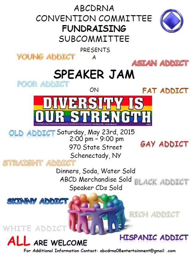 Speaker Jam - ABCDRNA Convention Committee Fundraising Subcommittee @ Schenectady | New York | United States