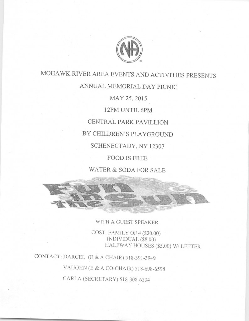 MRA Annual Memorial Day Picnic @ Central Park Pavillion | Schenectady | New York | United States