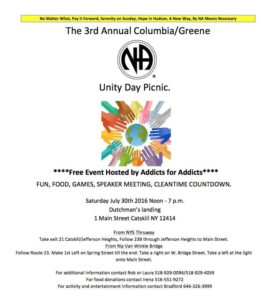 3rd Annual Columbia/Greene Unity Day @ Dutchmans Landing | Catskill | New York | United States