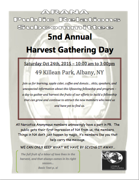 5th Annual Harvest Day // ARANA PR Subcommittee @ Albany | New York | United States