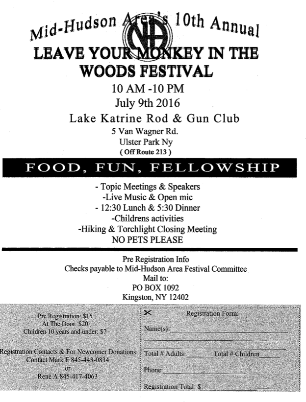 MHA's 10th Annual Leave Your Monkey in the Woods Festival @ Lake Katrine Rod & Gun Club | Ulster Park | New York | United States
