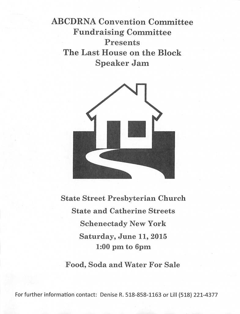 The Last House On The Block Speak Jam // ABCDRNA Convention Committee Fundraising Subcomittee @ Schenectady   New York   United States