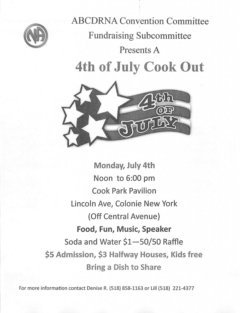 4th Of July Cook Out // ABCDRNA Convention Committee Fundraising Subcomittee @ Cook Park Pavilion | Colonie | New York | United States