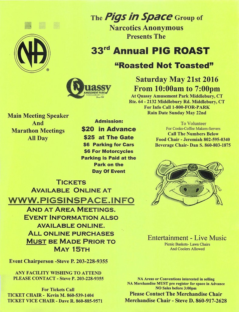 Pigs In Space Group's 33rd Annual Pig Roast @ Middlebury | Connecticut | United States