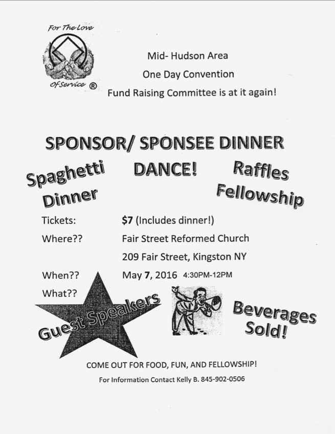 Sponsor - Sponsee Dinner // MHA's One Day Convention Fundraising committee @ Kingston | New York | United States
