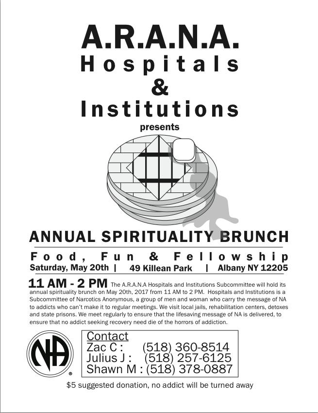 Spirituality Brunch // ARANA H&I Subcommittee @ Albany | New York | United States