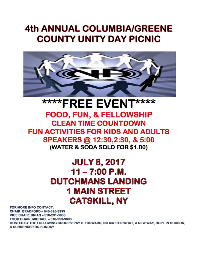 4th Annual Columbia / Greene County Unity Day Picnic @ Catskill | New York | United States