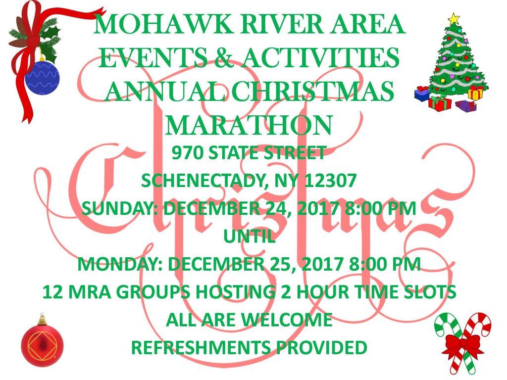 Christmas Marathon // MRA E&A @ Schenectady | New York | United States