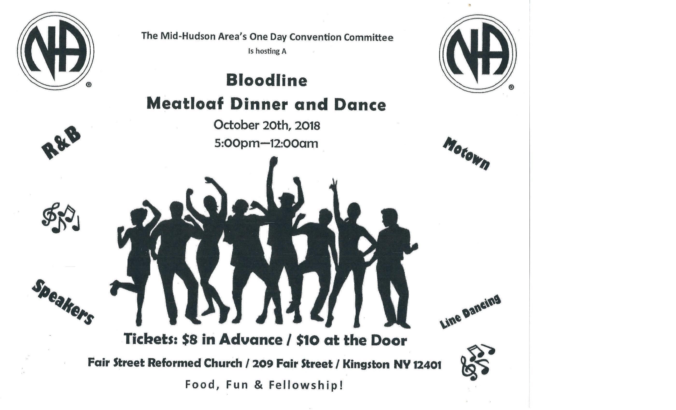 Bloodline Meatloaf Dinner and Dance @ Fair Street Reformed Church | Kingston | New York | United States