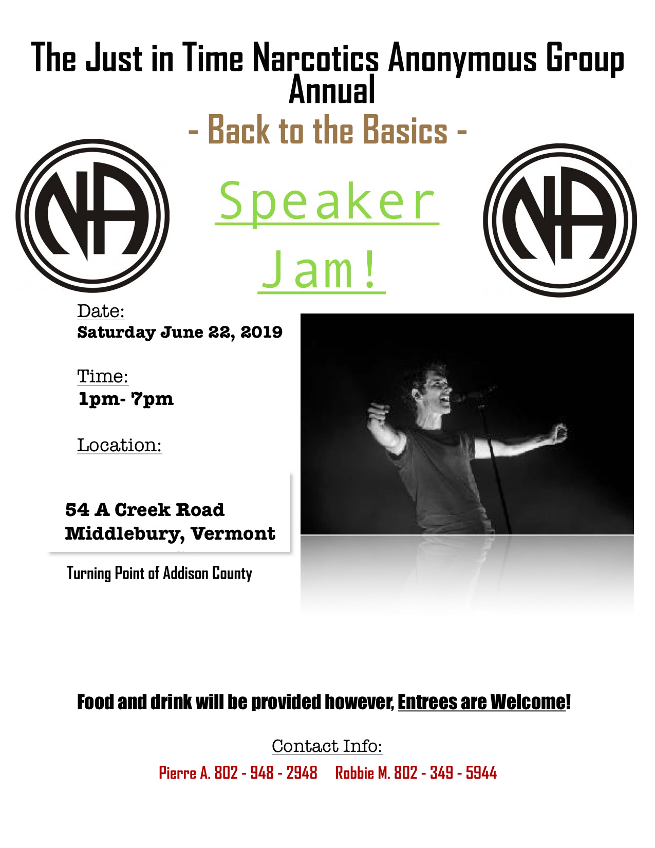 Back to the Basics Speaker Jam @ Middlebury | Vermont | United States