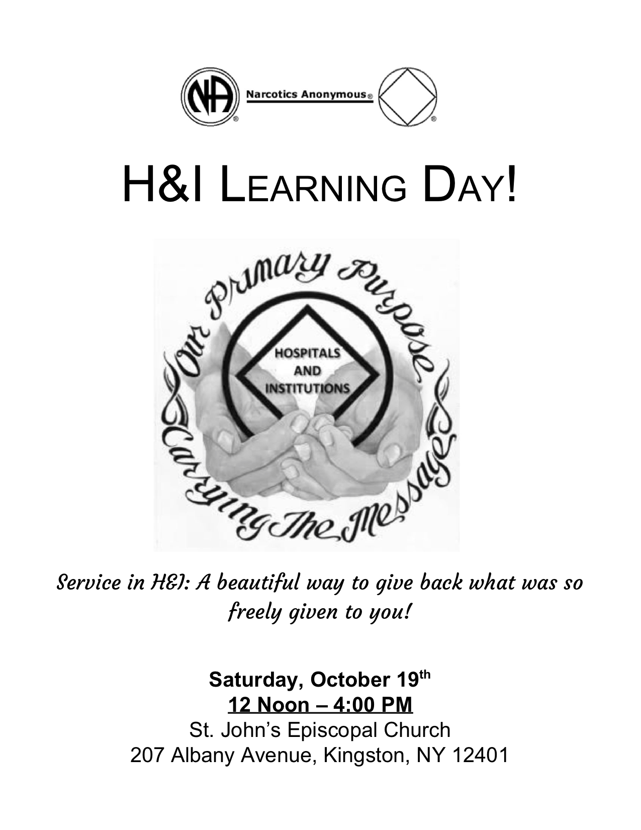 MHA H and I Learning Day @ Kingston | New York | United States