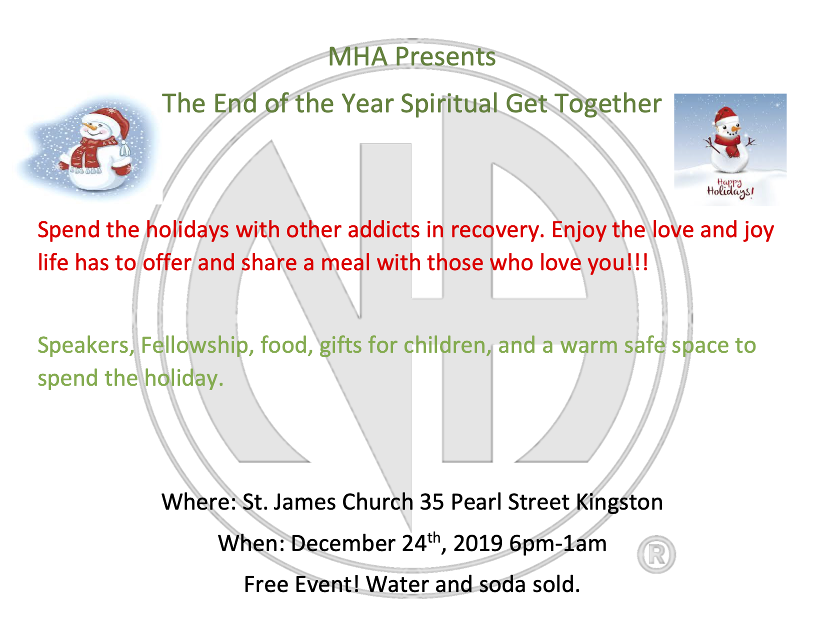 The End of the Year Spiritual Get Together @ Kingston   New York   United States